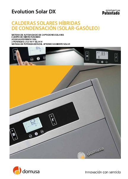 Catalogo Caldera Domusa Evolution Solar DX