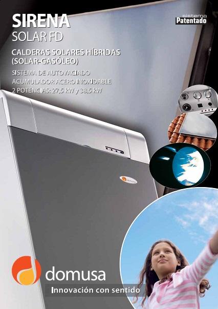 Catalogo Caldera Domusa sirena solar FD
