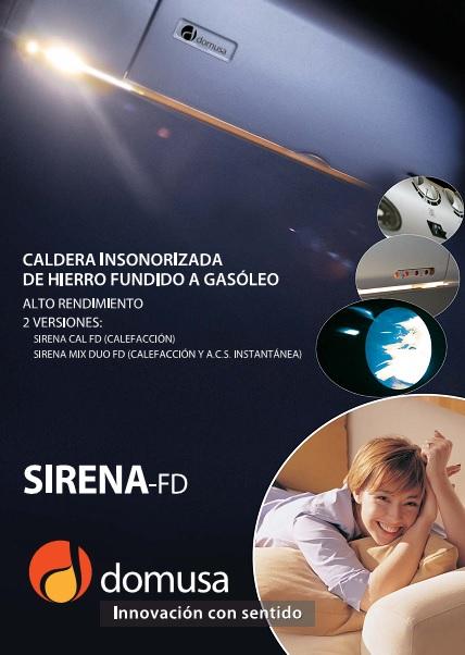 Catalogo Caldera  Domusa Sirena FD
