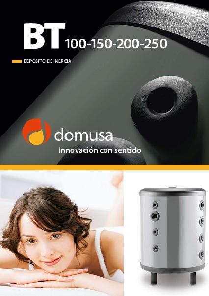 Catalogo comercial deposito de inercia Domusa BT