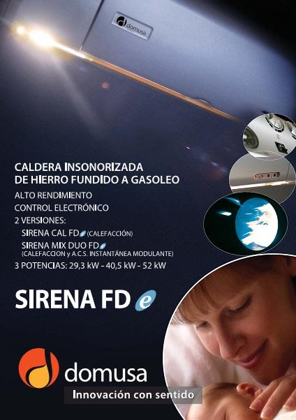 Catalogo de Calderas  Domusa Sirena FDe