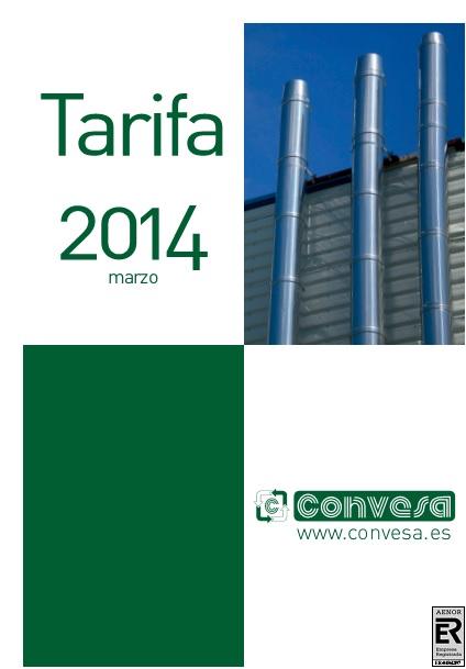 Catalogo tarifa Convesa 2014