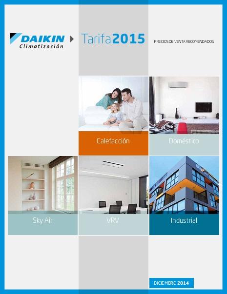 Catalogo tarifa Daikin 2015
