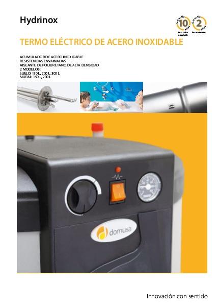 Catalogo termos eléctricos Domusa Hydrinox