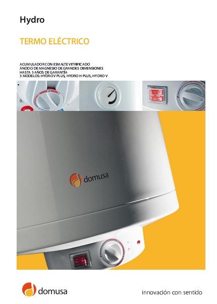 Catalogo termos eléctricos Domusa Hydro