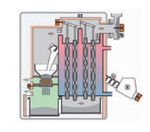 Interior Caldera de pellets Vaillant Renervit VKP-2