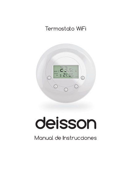 Manual termostato wifi deisson