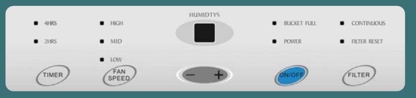 Panel de control Deshumidificador Daitsu ADDH-20