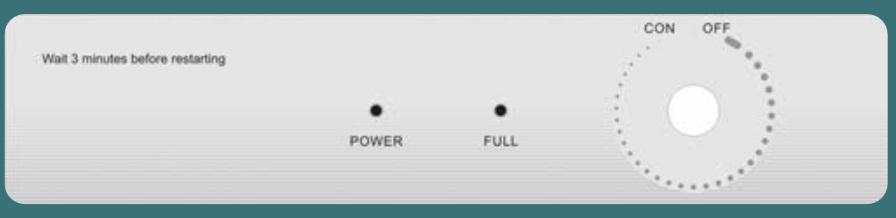 Panel de control Deshumidificador mec Daitsu ADDH-12