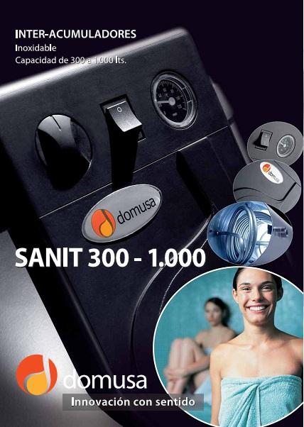 Catalogo Acumulador Domusa sanit 300 a 1000