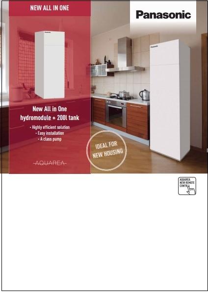 Catalogo comercial Aquarea all in one Panasonic 2014