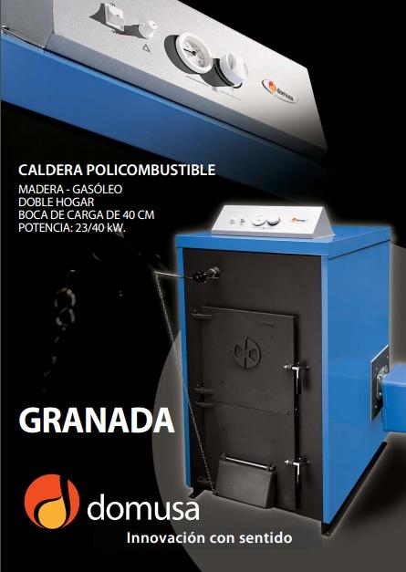 Catalogo comercial Caldera Domusa Granada