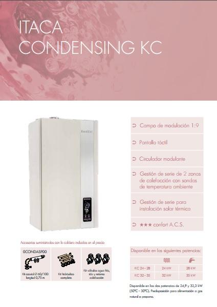 Catalogo comercial Fondital Caldera Itaca KC