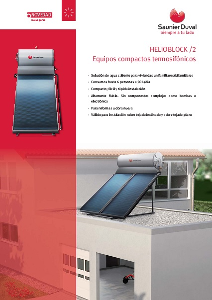 Catalogo sistema termosifon Saunier Duval HELIOBLOCK