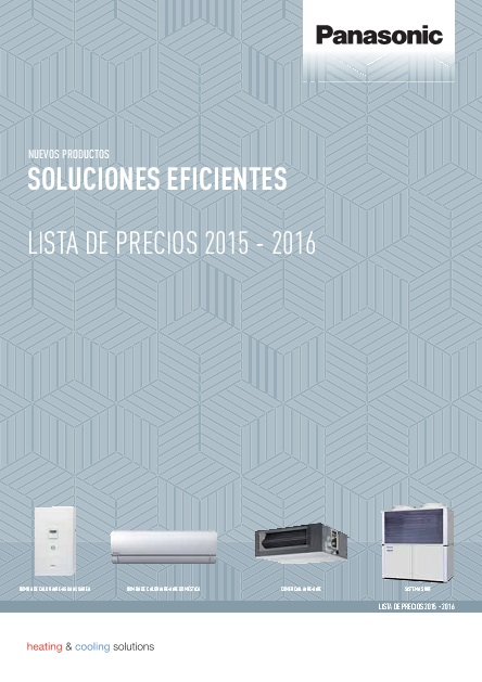 Catalogo tarifa Panasonic 2015