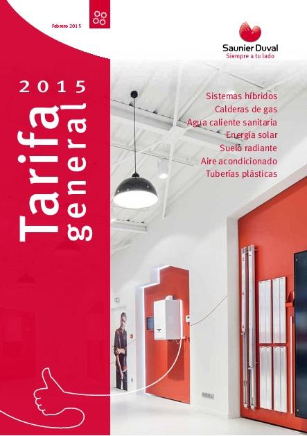 Catalogo tarifa Saunier Duval 2 2015