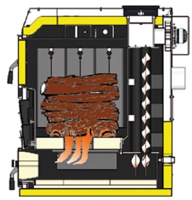 Combustión Caldera de leña Baxi CBL32