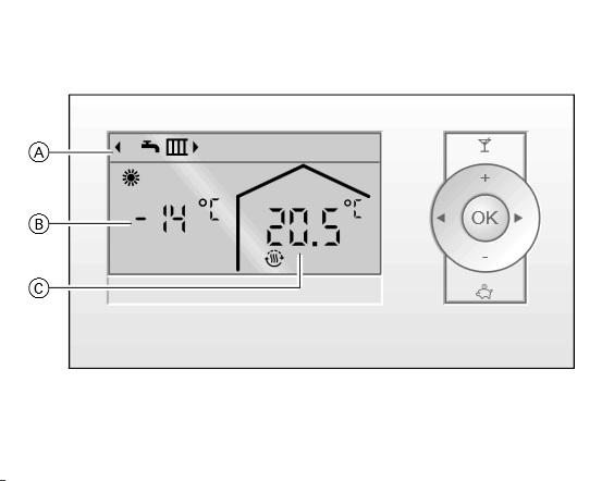 Detalle termostato Viessmann Vitotrol 200A