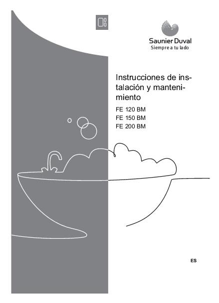 Interacumulador Saunier Duval Serie FE - Manual de instalación