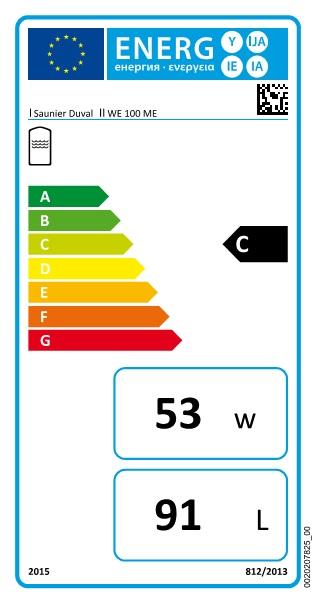 Interacumulador Saunier Duval WE-100-ME - etiqueta-energetica
