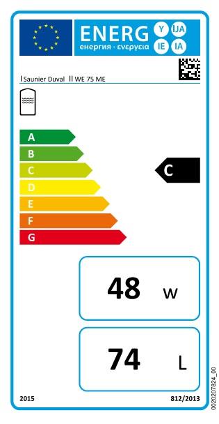Interacumulador Saunier Duval WE-75-ME - etiqueta-energetica