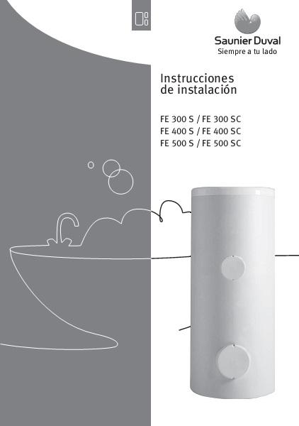 Interacumuladores Saunier Duval Serie FE S-SC - Manual de instalación