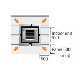 Aire Acondicionado Cassette Fujitsu AUY UiA-LB - Wide panel