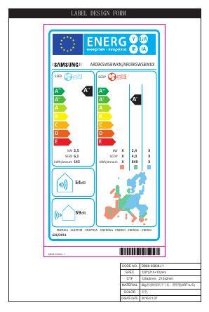 Aire Acondicionado Split Samsung H6709 - Etiqueta