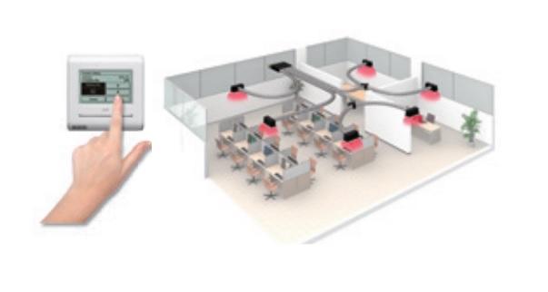 Aire Acondicionado por Conductos Fujitsu ACY UiA-LB - Flujo de aire
