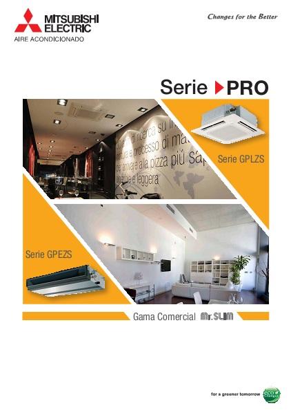 Catalogo comercial Conducto Mitsubishi GPEZS Serie PRO