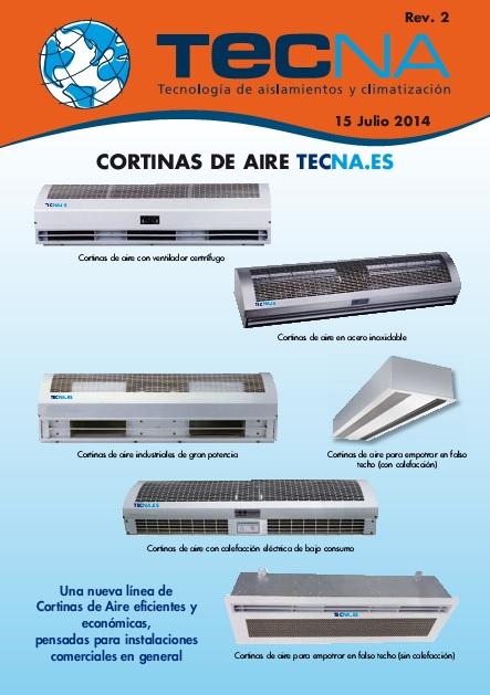 Catalogo comercial Cortinas de aire TECNA