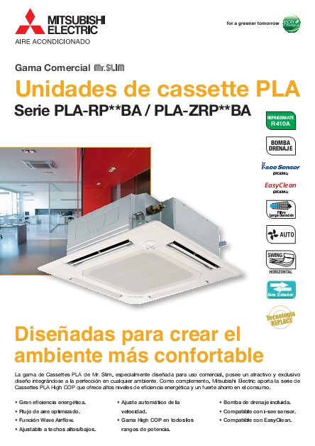 Catalogo_comercial_Cassettes_Mitsubishi_PLZS_High_COP_Power-Inverter