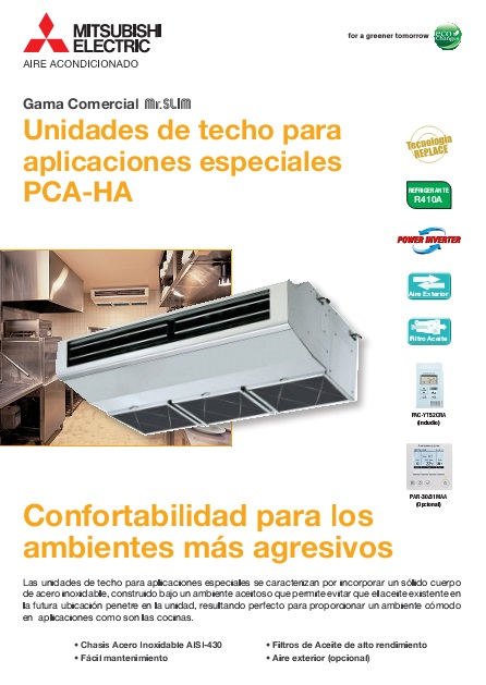 Catalogo comercial Mitsubishi Techo-Serie PCZS-VHA-Power Inverter