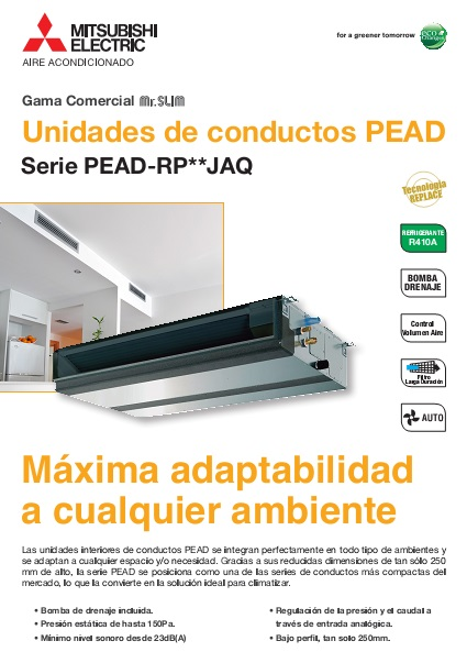 Catalogo comercial  Mitsubishi  Conductos PEZS-Power Inverter