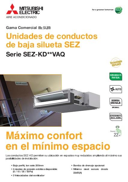Catalogo comercial  Mitsubishi  Conductos SEZS-Serie S Inverter