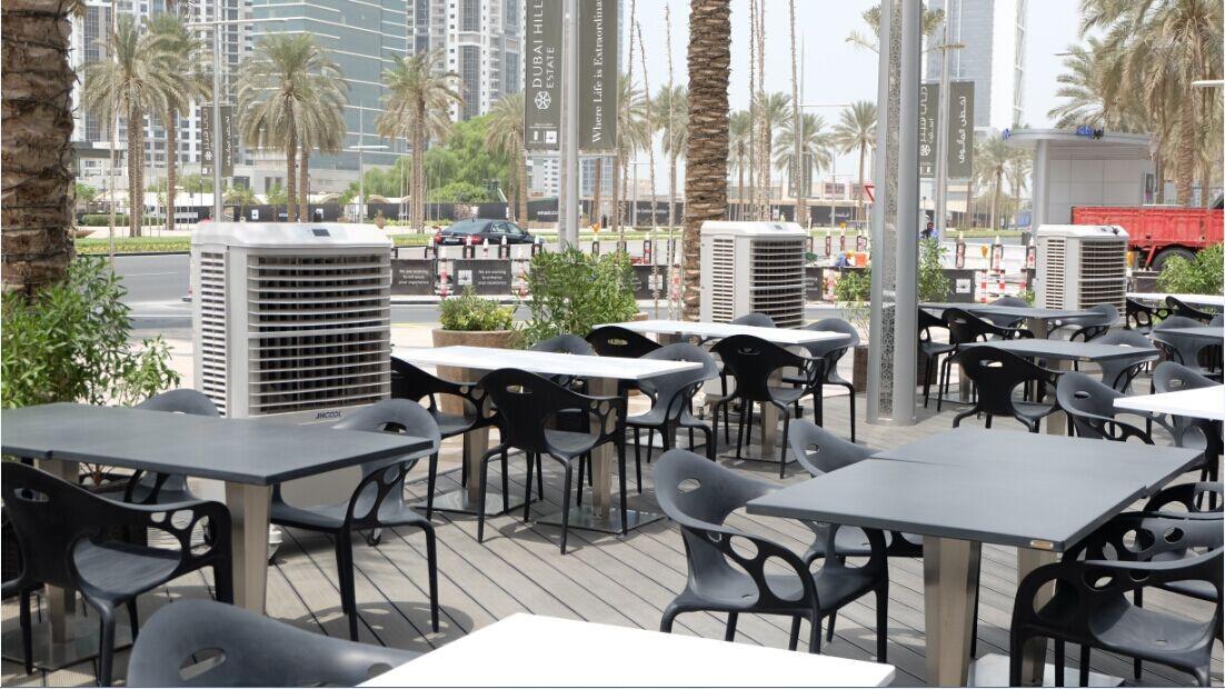 Climatizador evaporativo portátil Tecna - terraza exterior