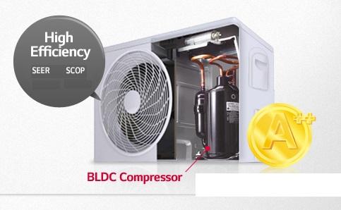 Compresor Aire acondicionado suelo vertical LG UP48 INVERTER