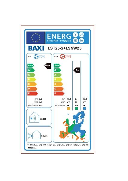 Etiqueta ErP Split Baxi ANORI 35