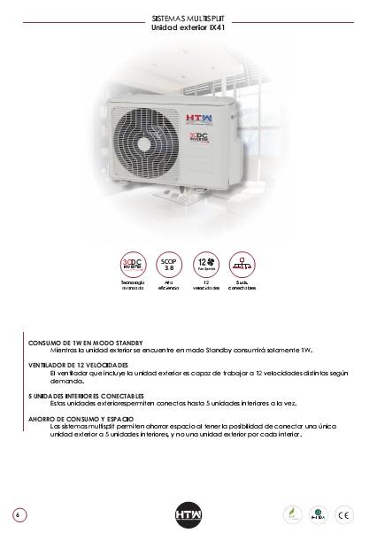 Ficha Técnica MULTISPLIT HTW Unidad exterior IX41