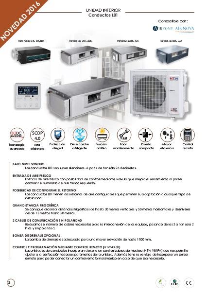 Ficha Tecnica Conductos HTW D-L01