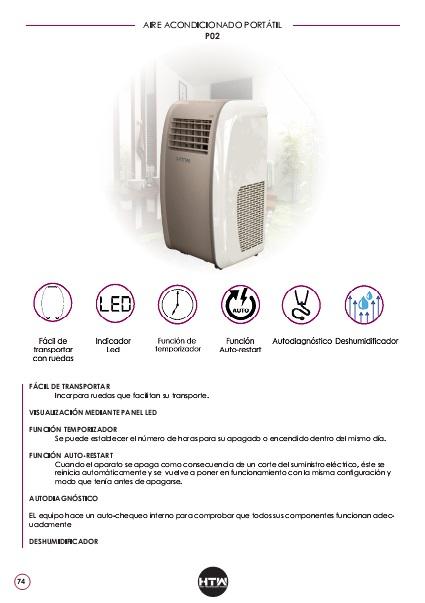 Ficha de producto Aire Acondicionado portátil HTW P02