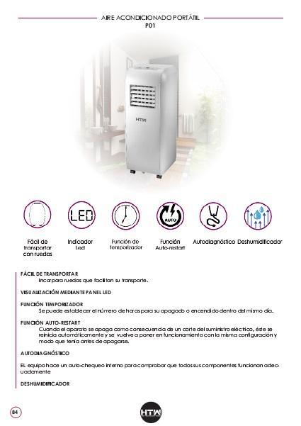 Ficha de producto Aire Acondicionado portátil HTW PC-021P01
