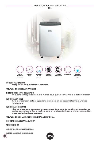 Ficha de producto Deshumidificador HTW P06