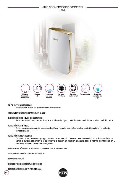 Ficha de producto Deshumidificador HTW P08