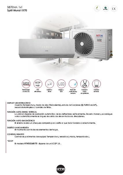 Ficha producto Split HTW IX70