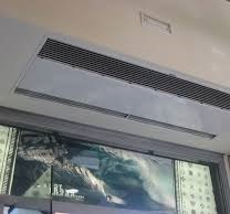 Instalación Cortina de aire encastrable TECNA SHEARFLOW