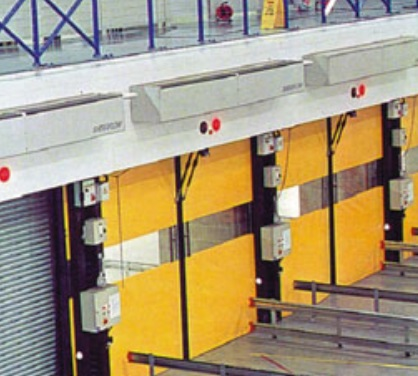 Instalación Cortinas de aire industriales de gran potencia TECNA