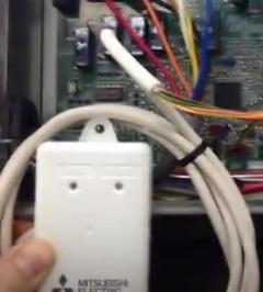 Instalacion Adaptador WiFi para control por internet Mitsubishi MAC-557IF-E