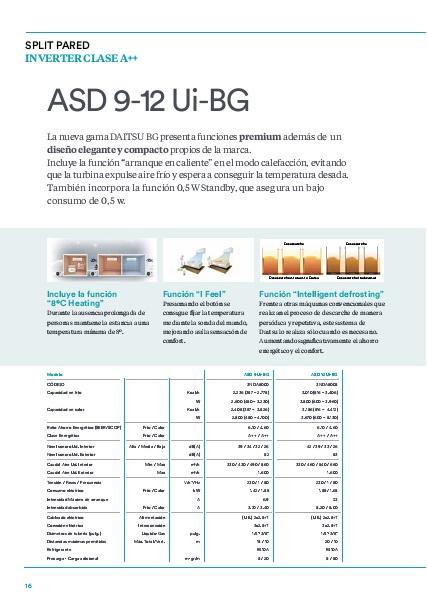 Portada Ficha Aire Acondicionado Split Daitsu ASD9-12UI-BG