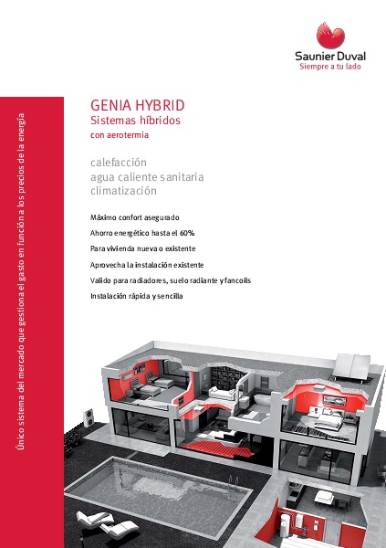 Catalogo comercial Bomba de calor Saunier-Duval-GENIA HYBRID